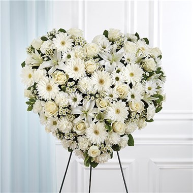All_White_Mixed_Flower_Solid_Standing_Heart